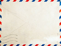 Retro air mail post envelope Stock Image