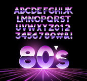 Retro Airbrushed 80s Letters Stock Images