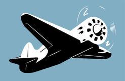 Retro aircscrew plane royalty free illustration