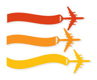 Retro Airplane Banner. Vector Illustration. Stock Photography