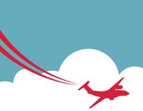 Retro Airplane Banner. Vector Illustration. Royalty Free Stock Photos