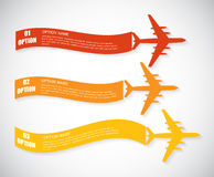 Retro Airplane Banner. Vector Illustration. Royalty Free Stock Images