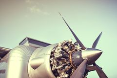Airplane engine and Propeller Stock Photography