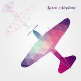 Retro airplane illustration Royalty Free Stock Photo
