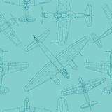 Retro airplane pattern Stock Image