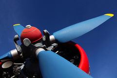 Retro airplane propeller Stock Photography