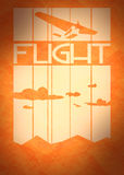 Retro airplanes flight on striped backdrop Royalty Free Stock Photography