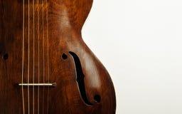 Retro akoestische gitaar Stock Foto's