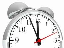 Retro alarm clock. 3d illustration of retro alarm clock isolated on white background Stock Photography