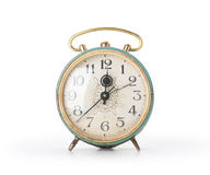 Retro alarm clock, isolated Royalty Free Stock Photos
