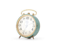 Retro alarm clock, isolated Royalty Free Stock Photo