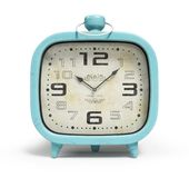 Retro alarm clock isolated on white background 3D rendering Stock Photo
