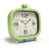 Retro alarm clock isolated on white background 3D rendering. Retro alarm clock isolated on the white background 3D rendering Stock Images