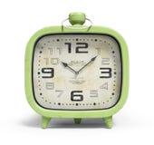 Retro alarm clock isolated on white background 3D rendering. Retro alarm clock isolated on the white background 3D rendering Royalty Free Stock Image