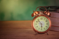 Retro alarm clock The old memories Stock Photo