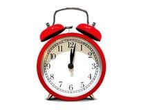 Free Retro Alarm Clock On White Background Stock Image - 117778401