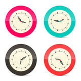 Retro Alarm Clock Set Illustration Royalty Free Stock Photo