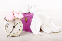Retro alarm clock Stock Photo