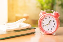Retro alarm clock vintage style filtered photo Royalty Free Stock Photo