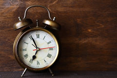 Retro alarm clock Royalty Free Stock Photos