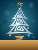 Retro albero di Natale Fotografie Stock Libere da Diritti