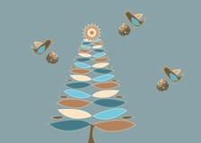 Retro albero di Natale Immagine Stock