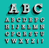 Retro alfabet Royaltyfria Bilder