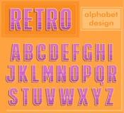 Retro alfabetdesign Fotografering för Bildbyråer