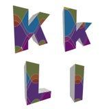 retro alfabeti funky 3D Immagine Stock