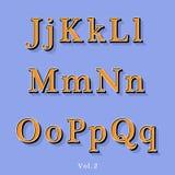 Retro alfabeto di stile Immagine Stock