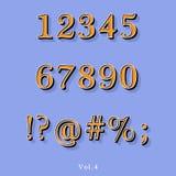 Retro alfabeto di stile Fotografia Stock