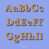 Retro alfabeto di stile Immagine Stock Libera da Diritti