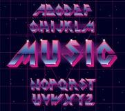 Retro alfabetstilsort för 80-tal Royaltyfri Foto