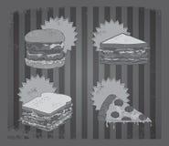 Retro alimento di prima colazione d'annata Fotografia Stock