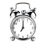 Retro allarme d'annata dell'orologio isolato Fotografie Stock Libere da Diritti
