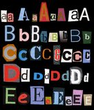 Retro Alphabet 1 of 5 Royalty Free Stock Images