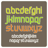 Retro- Alphabet Stockbild