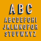 Retro alphabet. Retro creative alphabet. Vector illustration Royalty Free Stock Image