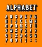 Retro alphabet. vector illustration