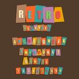 Retro alphabet Stock Photos