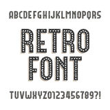 Retro alphabet font. Rough distressed letters and numbers. vector illustration