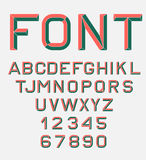 Retro alphabet font. Stock Photography
