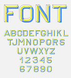 Retro alphabet font. Royalty Free Stock Photos
