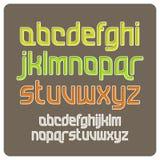 Retro alphabet. Illustration of retro alphabet color Stock Image