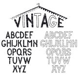 Retro alphabet for labels Royalty Free Stock Images