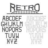 retro alphabet for labels Stock Photos