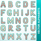 Retro alphabet letters Stock Photography