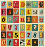 Retro alphabet for you business presentations Stock Photography