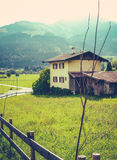 Retro Alpine Village Royalty Free Stock Image