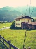 Retro Alpine Village Royalty Free Stock Image